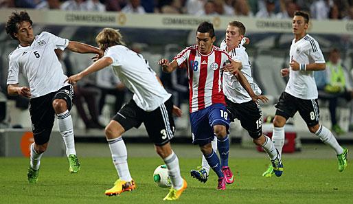 Das DFB-Team zeigte in der ersten Hälfte gerade in der Defensive eine schwache Vorstellung