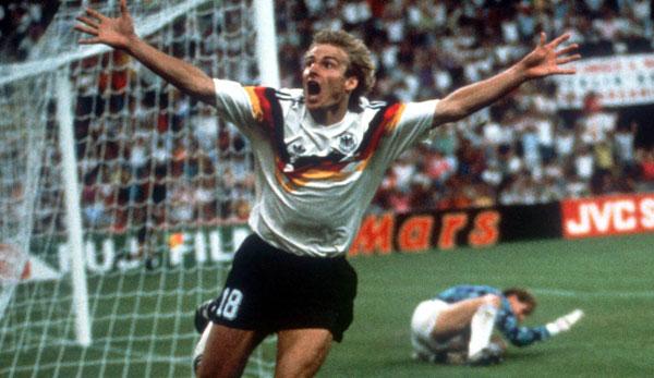 Klinsmann a marqué le but 1-0 contre les Pays-Bas au deuxième tour en 1990.