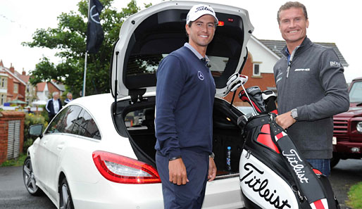 Golf-Star Adam Scott (l.) traf sich mit DTM-Pilot David Coulthard