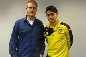 SPOX-Redakteur Jochen Tittmar traf Shinji Kagawa am BVB-Trainingsgelände