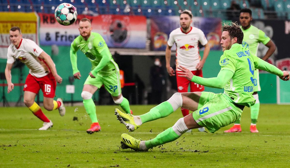 RB Leipzig - VfL Wolfsburg 2:0: RBL überwindet Wölfe-Defensive und steht im Pokal-Halbfinale