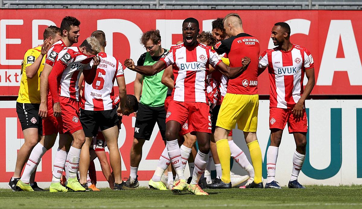 3. Liga: Würzburg steigt dank Last-Minute-Elfmeter auf, Ingolstadt sichert Relegation, Chemnitz abgestiegen