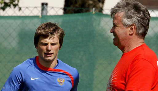 EM 2008, Fussball, Russland, Hiddink, Arschawin