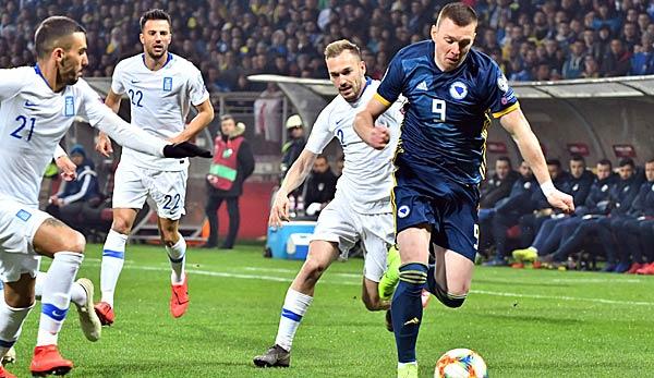 Griechenland gegen Bosnien-Herzegowina: EM-Qualifikation heute live im TV, Livestream und Liveticker