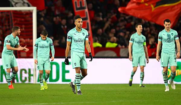 Arsenal Rennes Picture: Europa League: FC Arsenal Droht Achtelfinal-Aus
