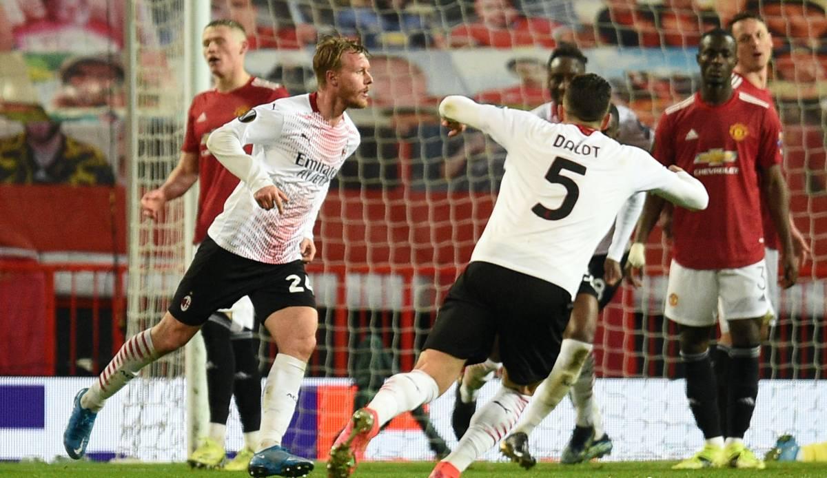 Europa League: Manchester United kassiert gegen Milan Last-Minute-Ausgleich - Arsenal und Tottenham auf Kurs
