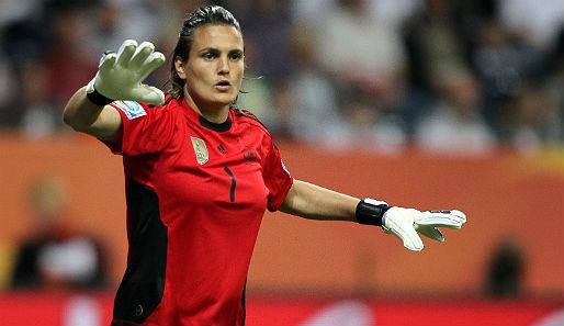Nadine Angerer absolvierte gegen Nigeria ihr 100. Länderspiel