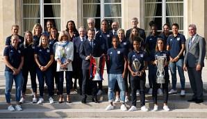 Frauenfussball: Ehrung für Lyon: Macron empfängt Marozsan, Bremer und Henning