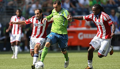 Christian Tiffert (M.) wechselte im Sommer zu den Seattle Sounders