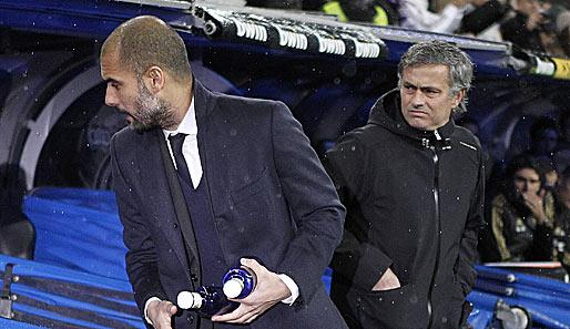 Treffen im europäischen Supercup wieder aufeinander: Pep Guardiola (l.) und Jose Mourinho