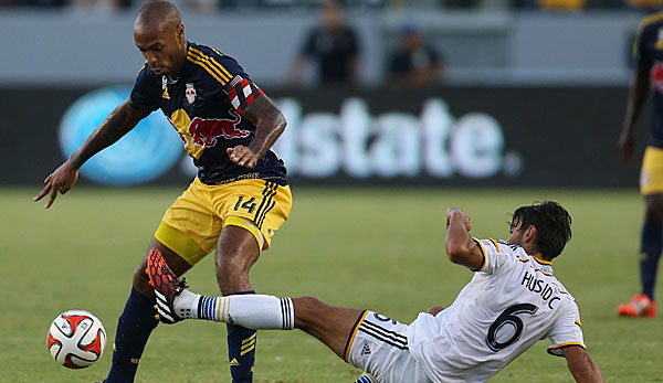 Thierry Henry (l.) ist Kapitän der New York Red Bulls