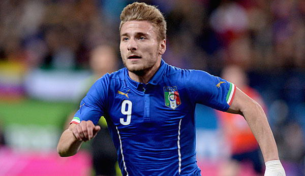 Ciro Immobile stand in Italiens Anfangsformation