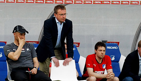 Peter Zeidler (l.) war in Hoffenheim Ralf Rangnicks Co-Trainer