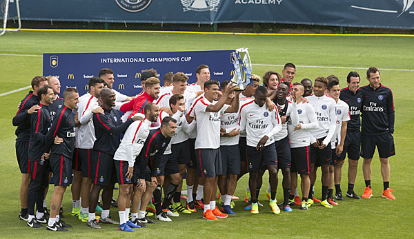 Paris Saint-Germain sicherte sich 2015 beim International Champions Cup die Trophäe