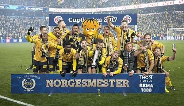 Norwegen: Nackte Tatsachen bei Pokalfeier von Lilleström