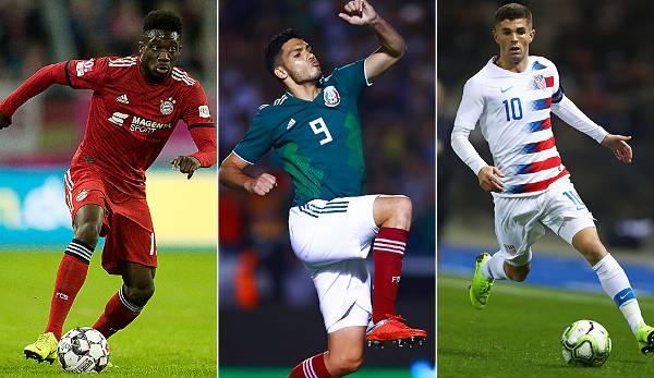 Diashow: Pulisic, Davies, Bailey und Co.: Das sind die Stars des Gold Cup 2019