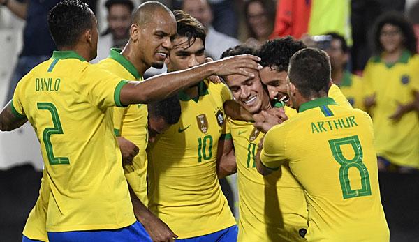 International: Tor von Philippe Coutinho bei Brasiliens versöhnlichem Jahresabschluss