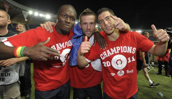 Moussa Sow, Yohan Cabaye et Eden Hazard ont joué ensemble à Lille.