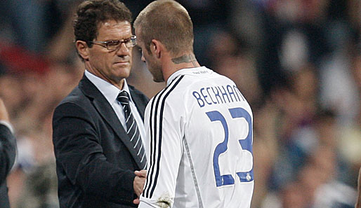 Fabio Capello, David Beckham