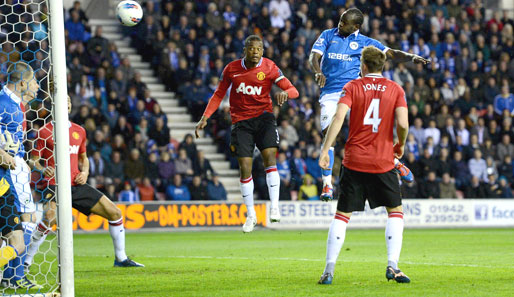Manchester United verlor bei Wigan Athletic mit 0:1