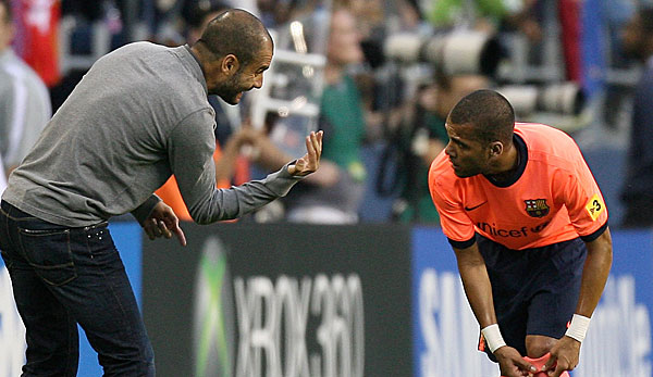 Pep Guardiola (l.) und Dani Alves