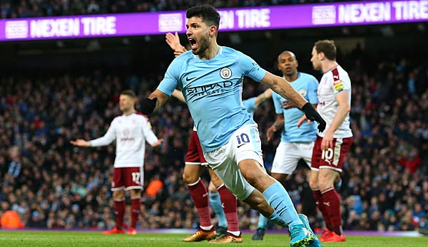 Manchester City spielt in der Premier League gegen den FC Burnley.