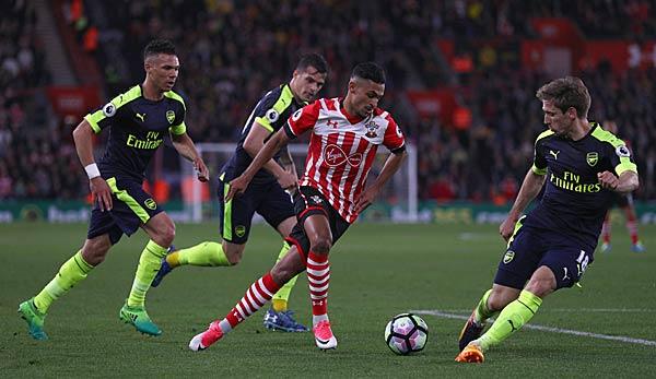 3:2 gegen Southampton: Arsenal hält Kurs auf die Europa League