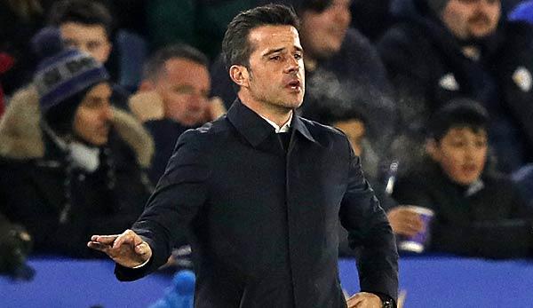 Marco Silva coaches Everton.
