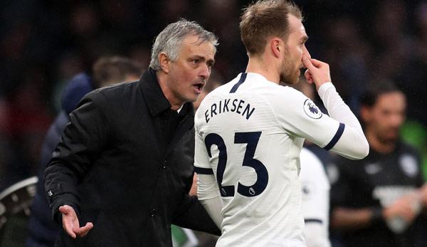 Timing im Werben um Christian Eriksen: Tottenham-Trainer Jose Mourinho kritisiert Inter Mailand