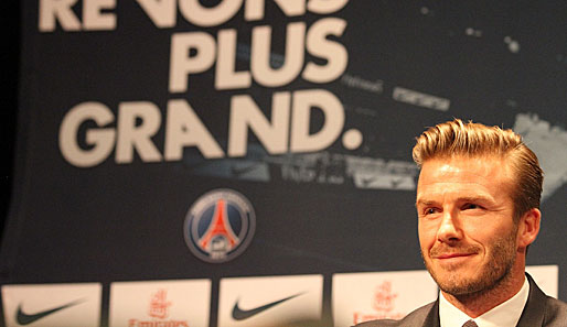 David Beckham heuert bei Paris Saint-Germain an