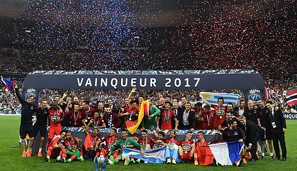 Paris St. Germain hat die Coupe de France 2017 gewonnen