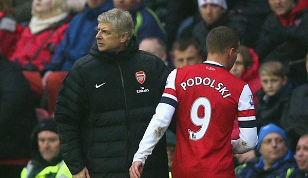 Podolski: Nur ein Kritikpunkt an Wenger