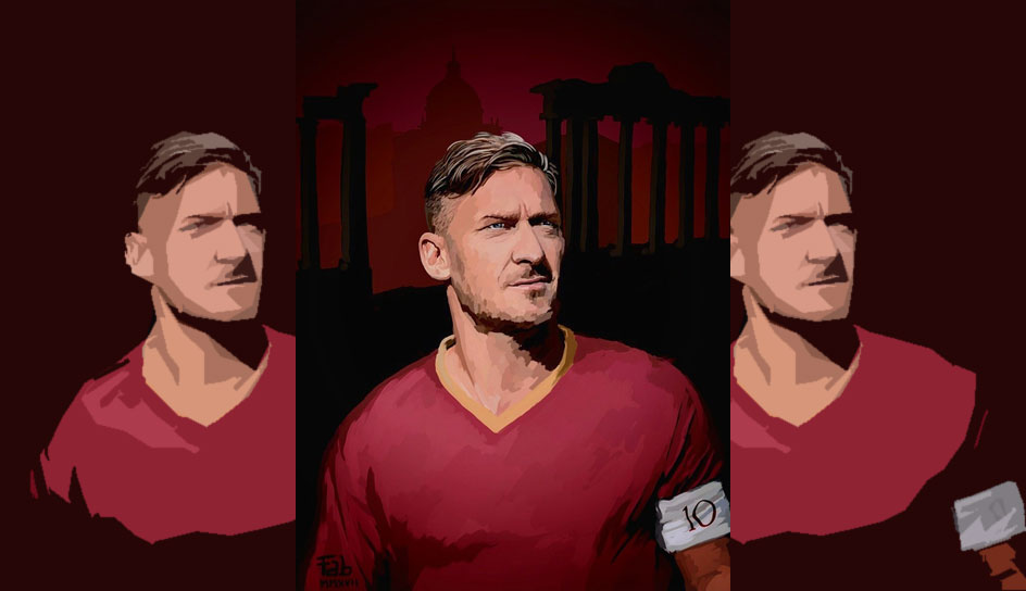 Francesco Totti. Forum Romanum. Petersdom. Rom in drei Bildern