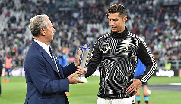 Cristiano Ronaldo als Spieler des Jahres in der Serie A ausgezeichnet
