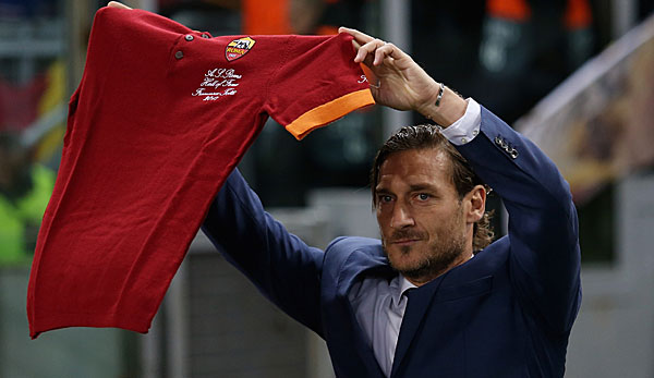 Francesco Totti verlässt den AS Rom.