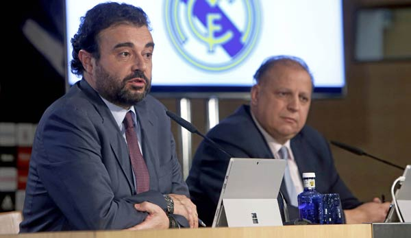 Jose Angel Sanchez (l.) ist Generaldirektor bei Real Madrid