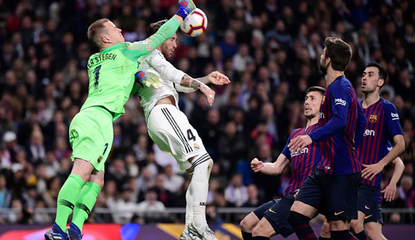 Marc-Andre ter Stegen and Barcelona both won matches against Real Madrid last season.