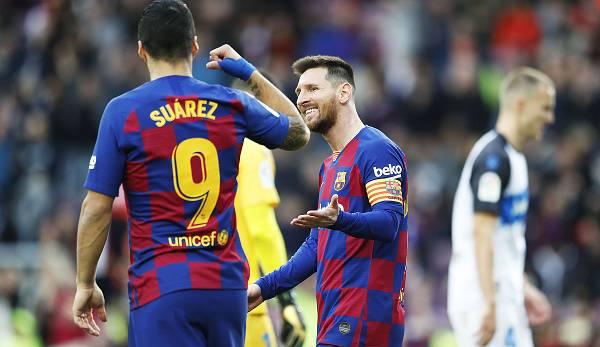 Lionel Messi et Luis Suarez forment à nouveau la tempête Barcas.