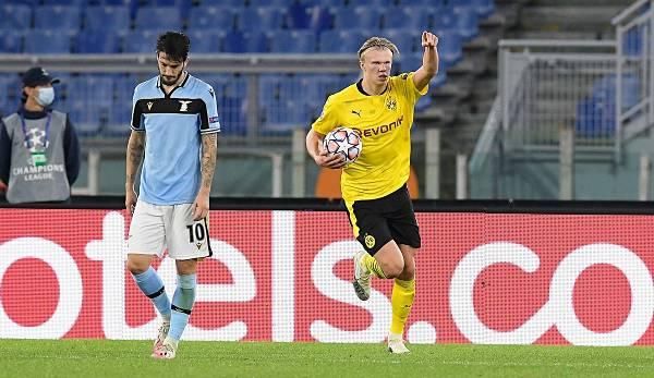 Erling Haaland applaudit le BVB en Ligue des champions.