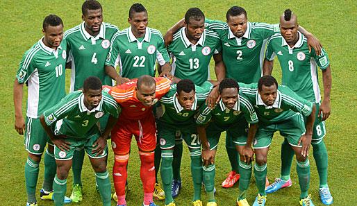 Nigerianische Fußballnationalmannschaft Aufstellung