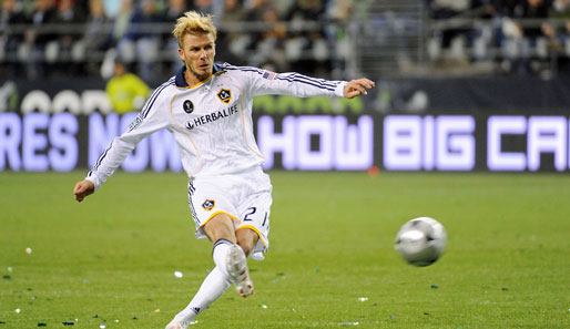 Superstar David Beckham spielt seit 2007 für die Los Angeles Galaxy in der Major League Soccer