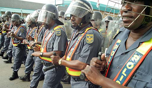 Die Polizei in Südafrika scheint auf die                 WM gut vorbereitet zu                 sein