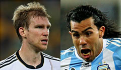 Per Mertesacker (25) vs. Carlos Tevez (26)