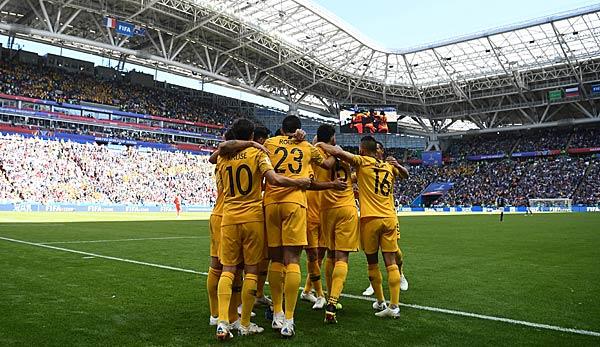 Australien sorgte mit seinem Torjubel gegen Frankreich für Verwirrung.