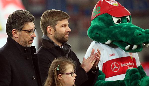 Claus Vogt (l.) ist der Präsident des VfB Stuttgart.