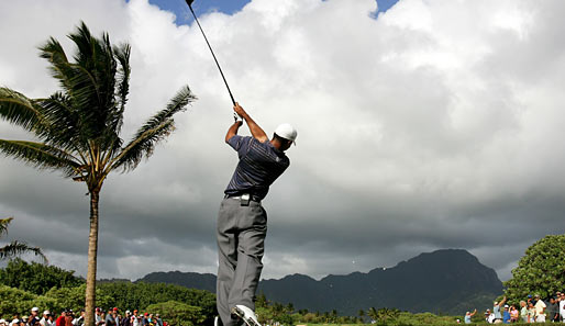 Tiger Woods siegte 2006 auf dem Poipu Bay Golf Course in Kauai, Hawaii