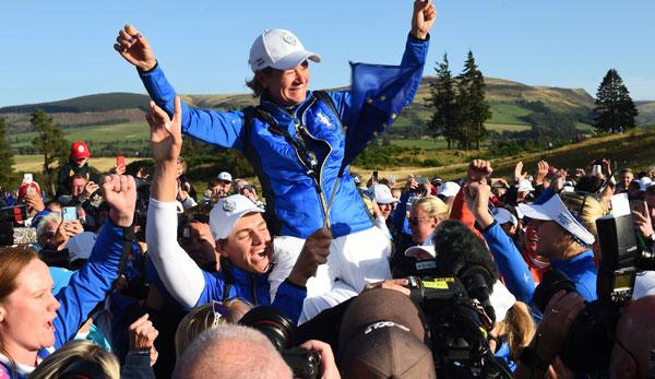 Golf - Team Europa mit Caroline Masson gewinnt Solheim Cup mit dem letzten Putt