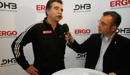 Heiner Brand beim Interview