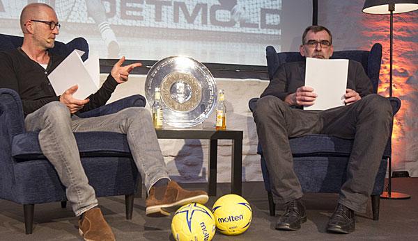 """Andreas Thiel (r.) ging als """"Hexer"""" in die deutsche Handball-Geschichte ein."""