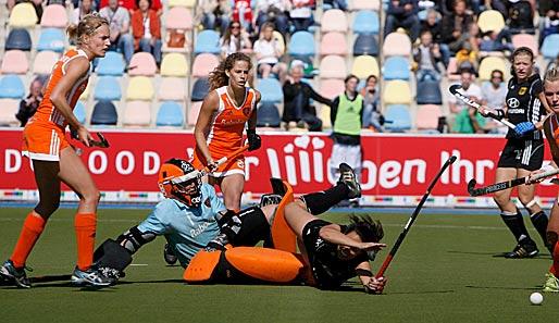 Holländische national torhüterin im em finale von mönchengladbach